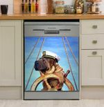 Sharpei And Sailing Distracted Dishwasher Cover Sticker Kitchen Decor