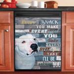 Pitbull White Every Snack You Make Dishwasher Cover Sticker Kitchen Decor