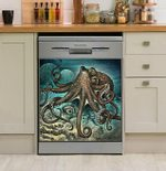 Magic Giant Pacific Octopus Dishwasher Cover Sticker Kitchen Decoration