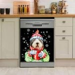 Old English Sheepdog Hot Drink Christmas Dishwasher Cover Sticker Kitchen Decor