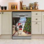 Pug Christmas House Dishwasher Cover Sticker Kitchen Decor
