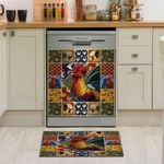 Rooster Chicken Farm Colorful Dishwasher Cover Sticker Kitchen Decor