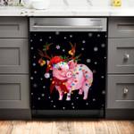 Pig Gorgeous Reindeer Dishwasher Cover Sticker Kitchen Decor