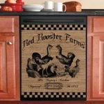 Rooster Country Dishwasher Cover Sticker Kitchen Decor