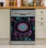 Native American Dreamcatcher Purple Dishwasher Cover Sticker Kitchen Decor
