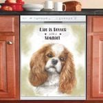 Life Is Better With A Spaniel Dishwasher Cover Sticker Kitchen Decor