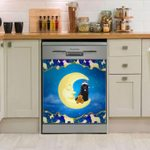 Newfie And Moon Dishwasher Cover Sticker Kitchen Decor