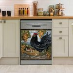 Rooster Chicken Country Art Dishwasher Cover Sticker Kitchen Decor