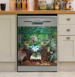 Lovely Patio Garden Art Dishwasher Cover Sticker Kitchen Decor