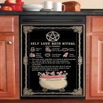 Self Love Bath Ritual Dishwasher Cover Sticker Kitchen Decor