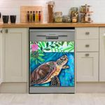 Sea Turtle Look At Sky Dishwasher Cover Sticker Kitchen Decor
