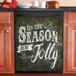 Pine Tree Tis The Season Dishwasher Cover Sticker Kitchen Decor