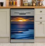 Sapphire Swell Ocean Dishwasher Cover Sticker Kitchen Decor