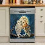 Owl Moon Stars Dishwasher Cover Sticker Kitchen Decor