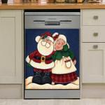 Mr And Mrs Santa Claus Dishwasher Cover Sticker Kitchen Decor