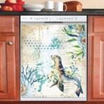 Shabby Chic Seaworld Vintage Dishwasher Cover Sticker Kitchen Decor