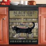 Reading Club When In Doubt Black Cat Dishwasher Cover Sticker Kitchen Decor