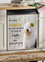 Old English Sheepdog Sunshine Dishwasher Cover Sticker Kitchen Decor