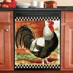 Rooster Chicken Dishwasher Cover Sticker Kitchen Decor
