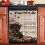 Remember Me Dachshund Dishwasher Cover Sticker Kitchen Decor