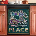 My Sewing Room Is My Happy Place Sewing Mandala Dishwasher Cover Sticker Kitchen Decor
