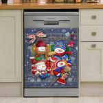 Merry Christmas Snowman Dishwasher Cover Sticker Kitchen Decor