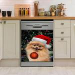 Pomeranian Yellow Dishwasher Cover Sticker Kitchen Decor