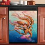 Octopus Swimming In The Sea Dishwasher Cover Sticker Kitchen Decor
