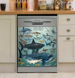 Many Sharks Dishwasher Cover Sticker Kitchen Decor