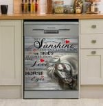 My Sunshine Comes From The Love In My Horse Eyes Dishwasher Cover Sticker Kitchen Decor