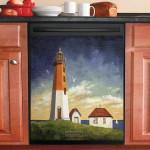 Point Judith Lighthouse Dishwasher Cover Sticker Kitchen Decor