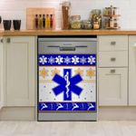 Paramedic Christmas Pattern Dishwasher Cover Sticker Kitchen Decor