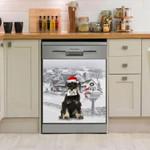Miniature Schnauzer Winter Snow Dishwasher Cover Sticker Kitchen Decor