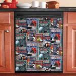 Pattern Stay Focused Dishwasher Cover Sticker Kitchen Decor
