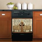 She Seeks Wool And Flax Dishwasher Cover Sticker Kitchen Decor