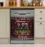 Rottweiler Flag All I Want Christmas Dishwasher Cover Sticker Kitchen Decor