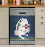 Rabbit Be A Good Listener Dishwasher Cover Sticker Kitchen Decor