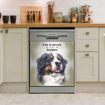 Life Is Better With A Bernese Dishwasher Cover Sticker Kitchen Decor