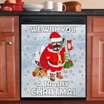 Raccoon Merry Christmas Dishwasher Cover Sticker Kitchen Decor