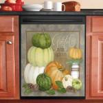 Pumpkin Grateful Friend And Friendship Dishwasher Cover Sticker Kitchen Decor