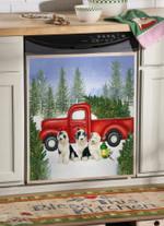 Old English Sheepdog Christmas Lamp Dishwasher Cover Sticker Kitchen Decor