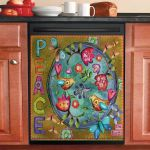 Peace On Earth Dishwasher Cover Sticker Kitchen Decor
