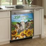 Life Is Better On The Farm Dishwasher Cover Sticker Kitchen Decor
