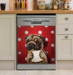 Pugalicious And White Dots Dishwasher Cover Sticker Kitchen Decor