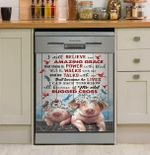 Pig And Hummingbird Dishwasher Cover Sticker Kitchen Decor