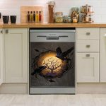 Raven And Tree Of Life Dishwasher Cover Sticker Kitchen Decor