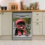 Rottweiler Underpine Funny Pattern Dishwasher Cover Sticker Kitchen Decor