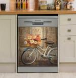 Meet Me At Le Cafe Retro Dishwasher Cover Sticker Kitchen Decoration