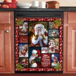 Merry Christmas Santa Claus Is Coming To Town Dishwasher Cover Sticker Kitchen Decor