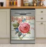 Rose Garden Dishwasher Cover Sticker Kitchen Decor